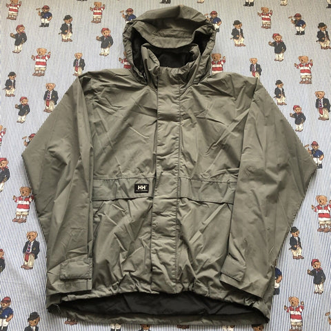 Vintage Grey Helly Hansen Waterproof Jacket (L)-Jackets/Coats-DISTINCT - THREADS