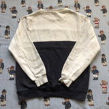 Vintage Grey & Navy Ellesse Panelled Sweatshirt (M)-Sweatshirts/Jumpers-DISTINCT - THREADS