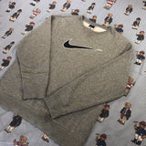 Vintage Grey Nike Big Logo Sweatshirt (M)-Sweatshirts/Jumpers-DISTINCT - THREADS