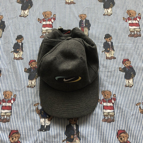 Vintage Grey Nike Cap-Hats/Accessories-DISTINCT - THREADS