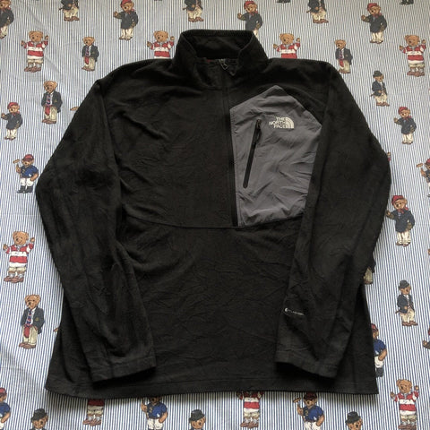 Vintage Grey North Face Half Zip Fleece (XL/L)-Fleeces-DISTINCT - THREADS