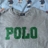 Vintage Grey Polo Ralph Lauren Tshirt (S)-T Shirts-DISTINCT - THREADS