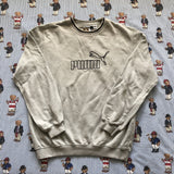 Vintage Grey Puma Sweatshirt (M)-Sweatshirts/Jumpers-DISTINCT - THREADS
