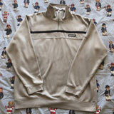 Vintage Grey Reebok 1/4 Zip Sweatshirt (M)-Sweatshirts/Jumpers-DISTINCT - THREADS