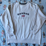 Vintage Grey Reebok Sweatshirt (M)-Sweatshirts/Jumpers-DISTINCT - THREADS