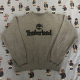 Vintage Grey Timberland Sweatshirt 🌳 (S)-Sweatshirts/Jumpers-DISTINCT - THREADS