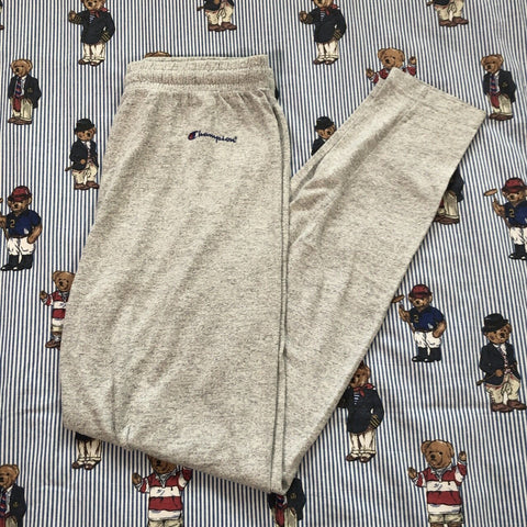Vintage Heather Grey Champion Joggers (S)-Bottoms-DISTINCT - THREADS