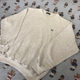 Vintage Heather Grey Fred Perry Sweatshirt (L)-Sweatshirts/Jumpers-DISTINCT - THREADS