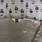 Vintage Heather Grey Nike Sweatshirt (L)-Sweatshirts/Jumpers-DISTINCT - THREADS
