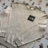 Vintage Heather Grey North Face Sweatshirt (XL/L)-Sweatshirts/Jumpers-DISTINCT - THREADS