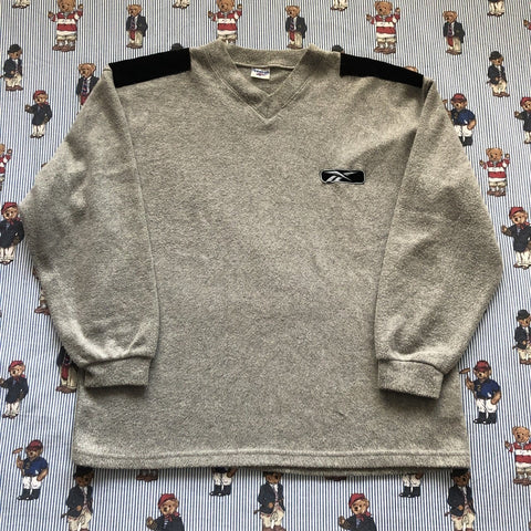 Vintage Heather Grey Reebok Soft Touch Fleeced Sweatshirt (L)-Sweatshirts/Jumpers-DISTINCT - THREADS