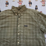 Vintage Khaki Chaps Ralph Lauren Button Down Shirt (M)-Shirts-DISTINCT - THREADS