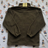 Vintage Khaki Green Adidas Full Zip Fleece (S/M) - DISTINCT - THREADS - Fleeces