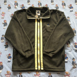 Vintage Khaki Green Adidas Full Zip Fleece (S/M)-Fleeces-DISTINCT - THREADS