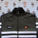 Vintage Khaki Green Ellesse Jacket (M)-Jackets/Coats-DISTINCT - THREADS