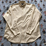 Vintage Light Beige/Off White Ralph Lauren Button Down Shirt (L)-Shirts-DISTINCT - THREADS