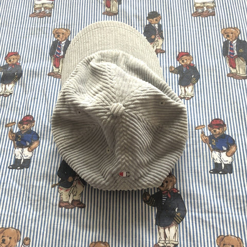 Vintage Light Grey Champion Corduroy Cap-Hats/Accessories-DISTINCT - THREADS