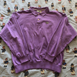 Vintage Lilac Long Sleeve Lacoste Polo Shirt 🐊 (M)-Polos-DISTINCT - THREADS