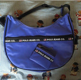 Vintage Lilac Ralph Lauren Polo Jeans Bag With Matching Coin Purse-Hats/Accessories-DISTINCT - THREADS