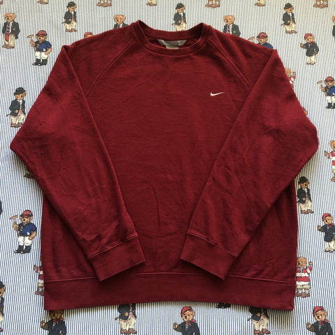 Vintage Maroon Nike Sweatshirt (L)-Sweatshirts/Jumpers-DISTINCT - THREADS