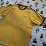 Vintage Mustard Fred Perry T shirt (L)-T Shirts-DISTINCT - THREADS