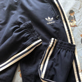 Vintage Navy Adidas Originals Tracksuit Bottom (L)-Bottoms-DISTINCT - THREADS