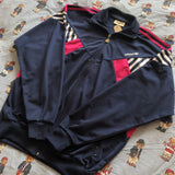 Vintage Navy Adidas Track Jacket (L)-Jackets/Coats-DISTINCT - THREADS