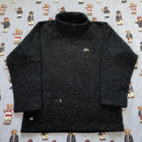 Vintage Navy Adidas Turtle Neck Fleece (M)-Fleeces-DISTINCT - THREADS