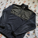 Vintage Navy & Black Nike 1/4 Zip Fleece (L)-Fleeces-DISTINCT - THREADS