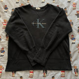 Vintage Navy Calvin Klein Sweatshirt (M)-Sweatshirts/Jumpers-DISTINCT - THREADS