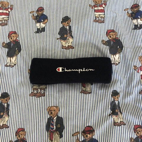 Vintage Navy Champion Headband-Hats/Accessories-DISTINCT - THREADS