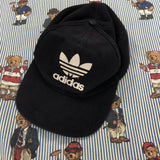Vintage Navy Corduroy Adidas Cap-Hats/Accessories-DISTINCT - THREADS
