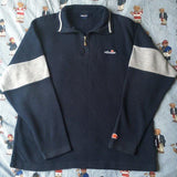 Vintage Navy Ellesse 1/4 Zip Sweatshirt (L)-Sweatshirts/Jumpers-DISTINCT - THREADS
