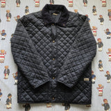 Vintage Navy Fila Thermore Quilted Jacket (L)-Jackets/Coats-DISTINCT - THREADS