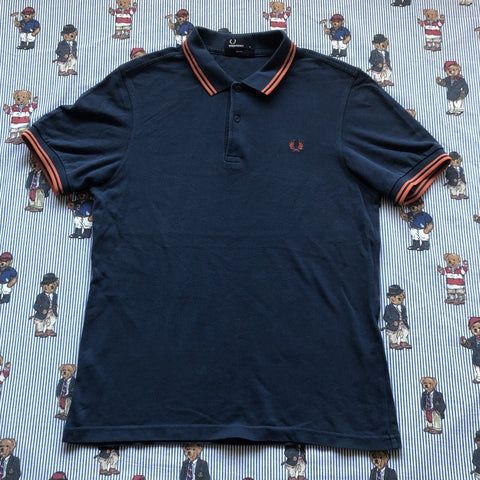 Vintage Navy Fred Perry Polo Shirt (M)-Polos-DISTINCT - THREADS