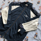Vintage Navy & Grey Champion Full Zip Sweatshirt (M)-Sweatshirts/Jumpers-DISTINCT - THREADS