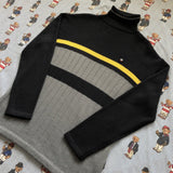 Vintage Navy & Grey Ellesse Turtle Neck Jumper (M)-Sweatshirts/Jumpers-DISTINCT - THREADS
