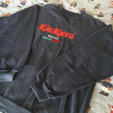 Vintage Navy Kickers Sweatshirt (M)-Sweatshirts/Jumpers-DISTINCT - THREADS