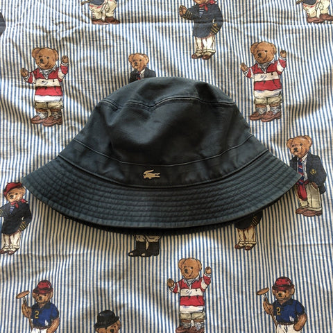 Vintage Navy Lacoste Canvas Bucket Hat 🐊-Hats/Accessories-DISTINCT - THREADS