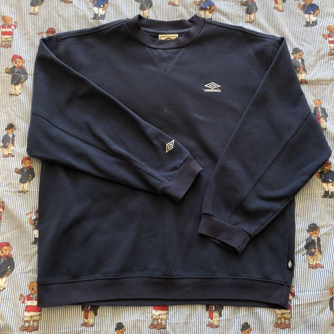 Vintage Navy Minimal Umbro Sweatshirt (XL/L)-Sweatshirts/Jumpers-DISTINCT - THREADS