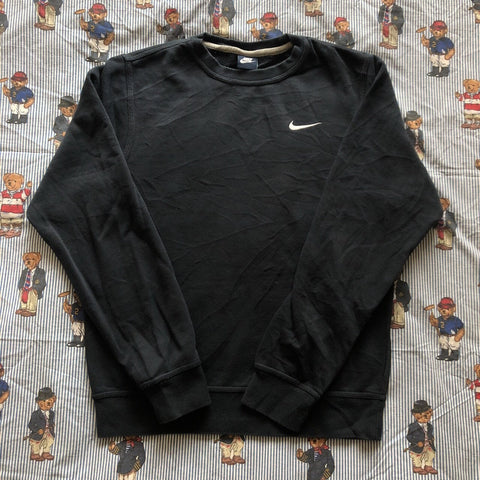 Vintage Navy Nike Minimal Sweatshirt (S)-Sweatshirts/Jumpers-DISTINCT - THREADS