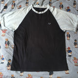 Vintage Navy & Pale Blue Fred Perry T Shirt (M)-T Shirts-DISTINCT - THREADS