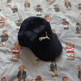 Vintage Navy Puma Canvas Cap-Hats/Accessories-DISTINCT - THREADS