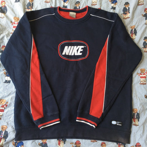 Vintage Navy & Red Nike Sweatshirt (M)-Sweatshirts/Jumpers-DISTINCT - THREADS