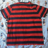 Vintage Navy & Red Striped Fred Perry T Shirt (L-XL)-T Shirts-DISTINCT - THREADS