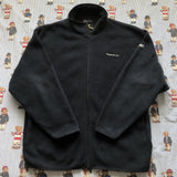 Vintage Navy Reebok Essentials Full Zip Fleece (L)-Fleeces-DISTINCT - THREADS