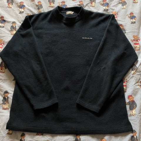 Vintage Navy Reebok Fleece Sweatshirt (L)-Fleeces-DISTINCT - THREADS