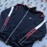 Vintage Navy Reebok Jacket (L)-Jackets/Coats-DISTINCT - THREADS