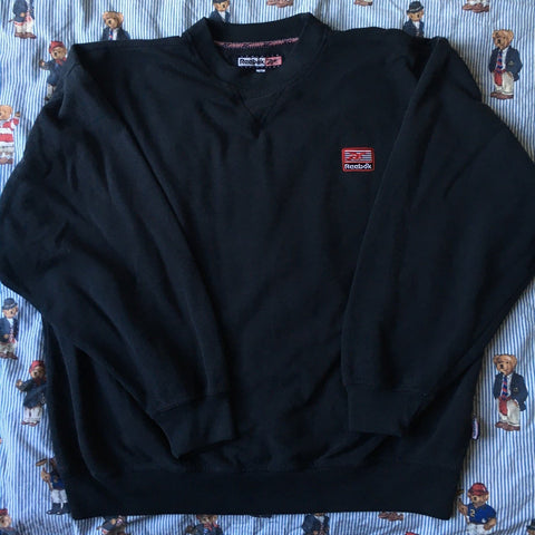 Vintage Navy Reebok Sweatshirt (XL/L)-Sweatshirts/Jumpers-DISTINCT - THREADS