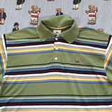 Vintage Olive Green Lacoste Polo Shirt 🐊 (M)-Polos-DISTINCT - THREADS